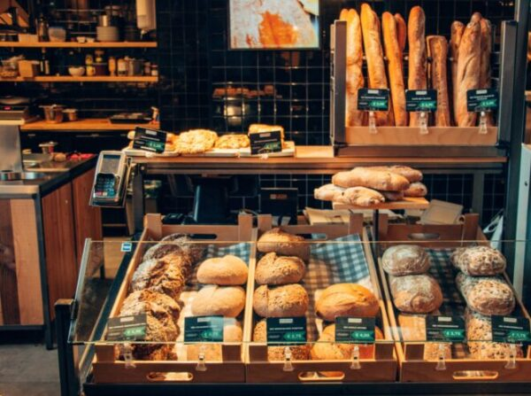 assorted bread store display